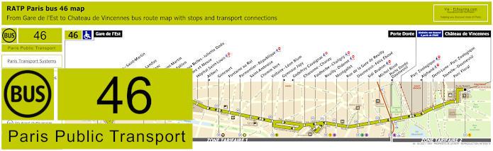 Paris Bus Line 46 Map With Stops