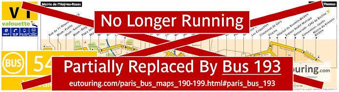 Paris Bus Line 542 Map With Stops