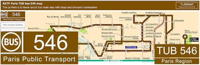 Paris Bus Line 546 Map With Stops