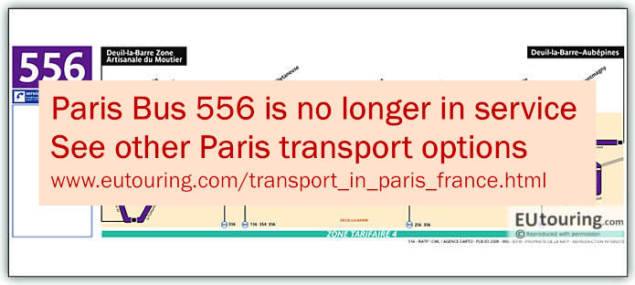 Paris Bus Line 556 Map With Stops