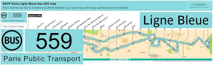 Paris Bus Line 559 Map With Stops