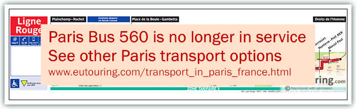 Paris Bus Line 560 Map With Stops