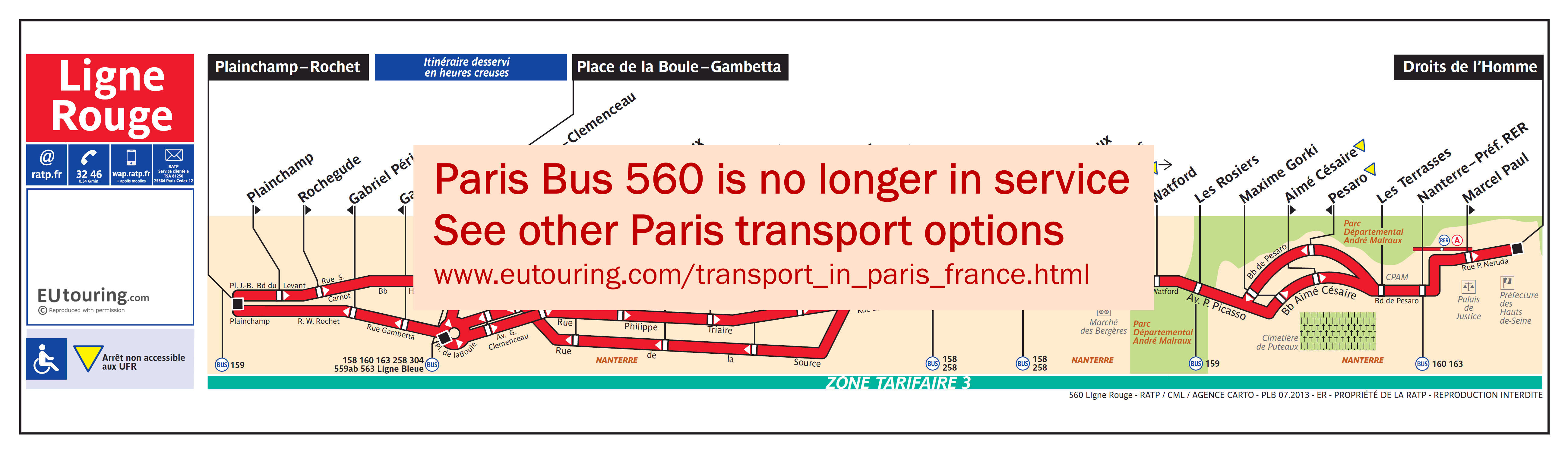 ratp route maps for paris bus lines 560 through to 569