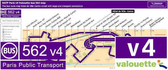 Paris Bus Line 562 Map With Stops