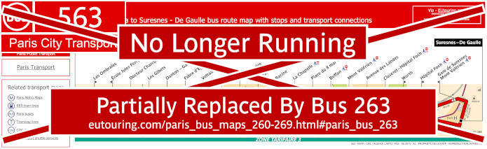 Paris Bus Line 563 Map With Stops