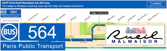Paris Bus Line 564 Map With Stops