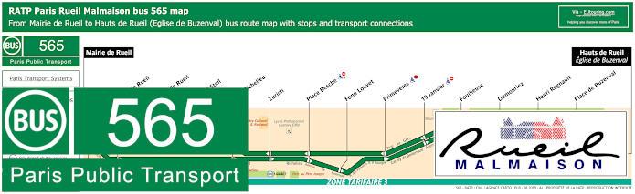 Paris Bus Line 565 Map With Stops