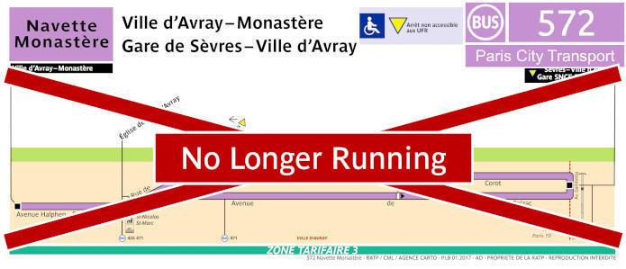 Paris Bus Line 572 Map With Stops