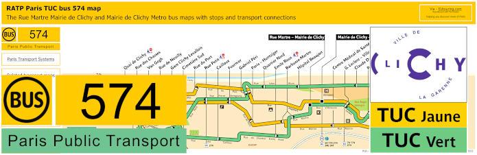 Paris Bus Line 574 Map With Stops