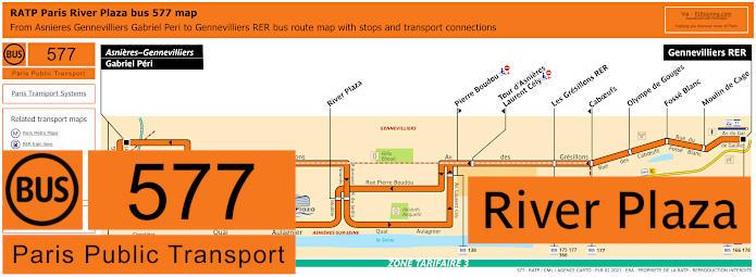 Paris Bus Line 577 Map With Stops