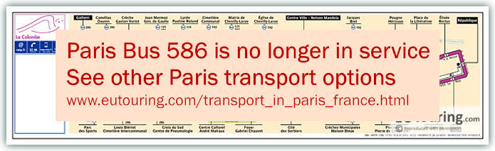 Paris Bus Line 586 Map With Stops