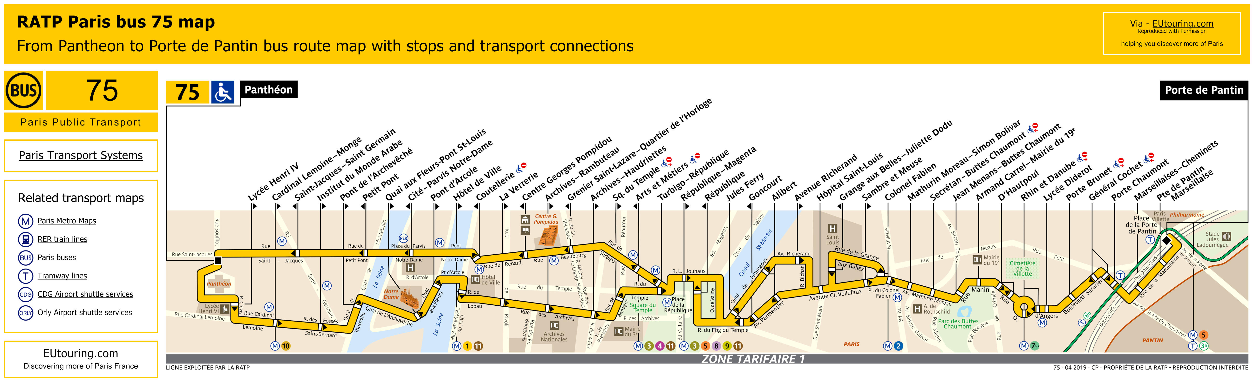 ratp route maps for paris bus lines 70 through to 79