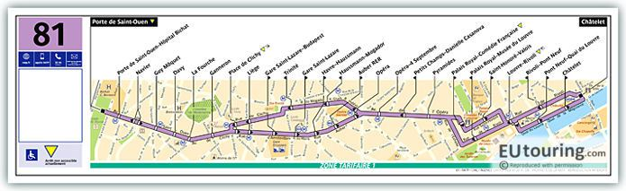 Paris Bus Line 81 Map With Stops