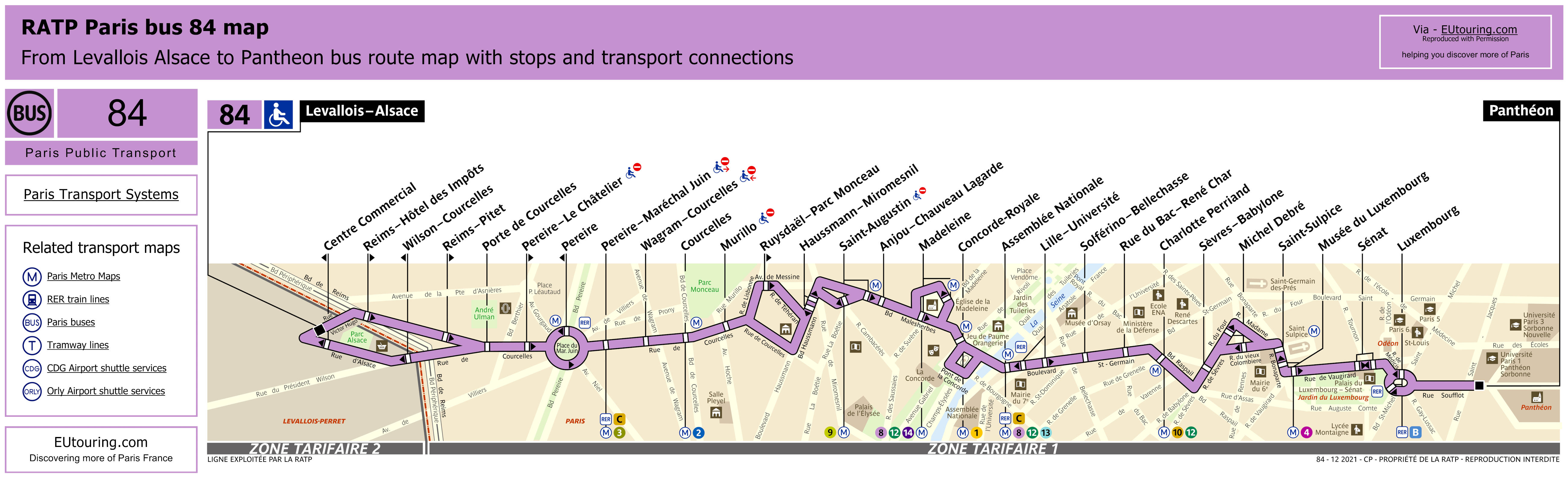 ratp route maps for paris bus lines 80 through to 89