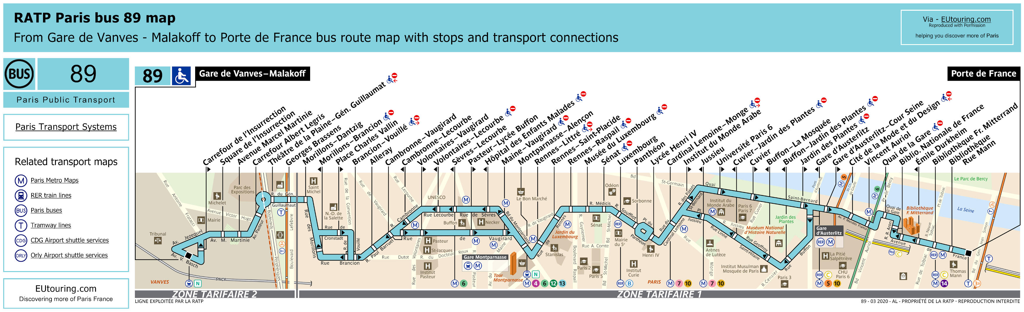 Ratp Route Maps Timetables For Paris Bus Lines 80 To 89 Update 2019