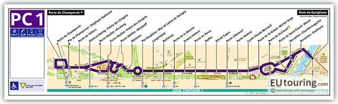 Paris Bus Line 97 Map With Stops