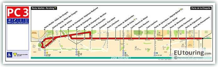 Paris Bus Line 99 Map With Stops