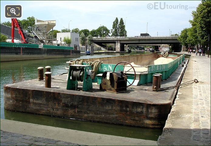 Transport Barge On Canal de l'Ourcq