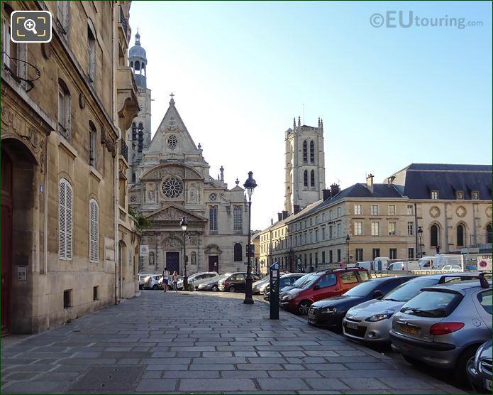 Place Du Pantheon Pathway Along Rue Clovis