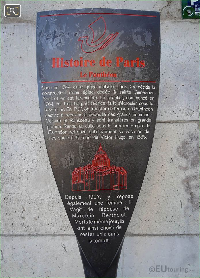 Tourist Information Board For The Pantheon