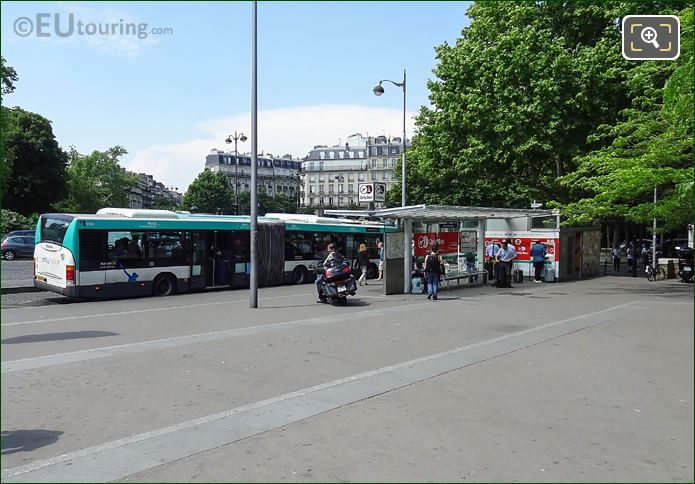 OrlyBus At Bus Stop Along Place Denfert-Rochereau