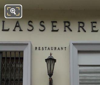 Lasserre Restaurant Name Front Facade