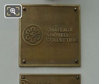 Castles And Hotels Collection Plaque Lasserre Restaurant