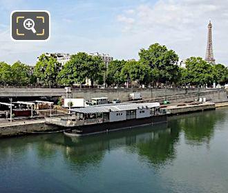 Bistrot Alexandre III Restaurant Moored On Quai d'Orsay