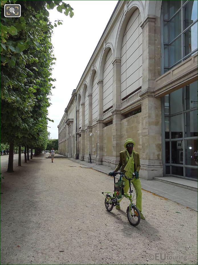 Green Gentleman With Top Hat In Tuileries Gardens