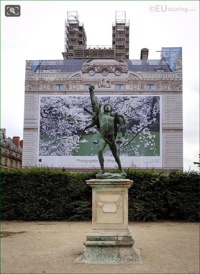 Printed Facade Of Pavillon De Marsan During Restoration