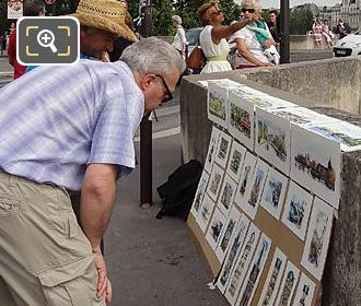 Tourists Paintings Quai Des Tuileries
