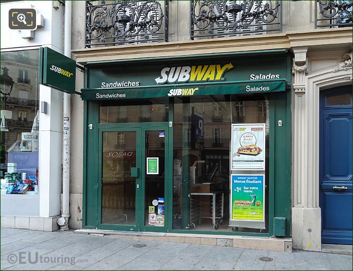 Subway Outlet On Rue Soufflot