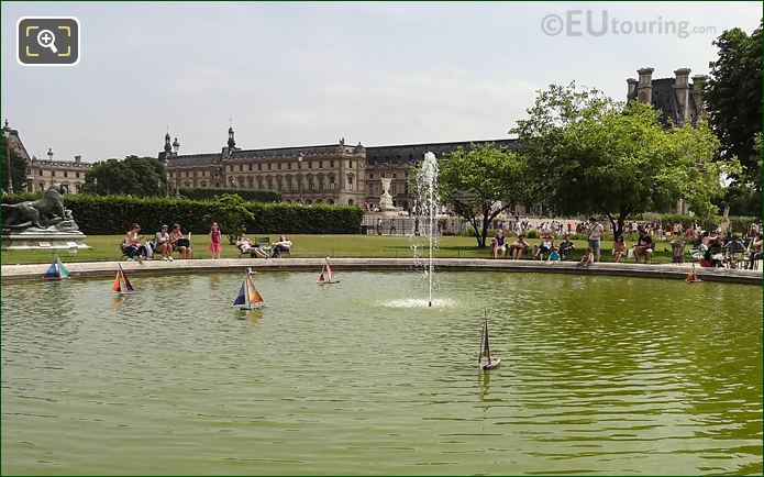 Model Sailing Boats On Water In Tuileries Gardens Paris
