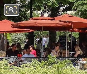 Tourists At Restaurant In Jardin Du Tuileries