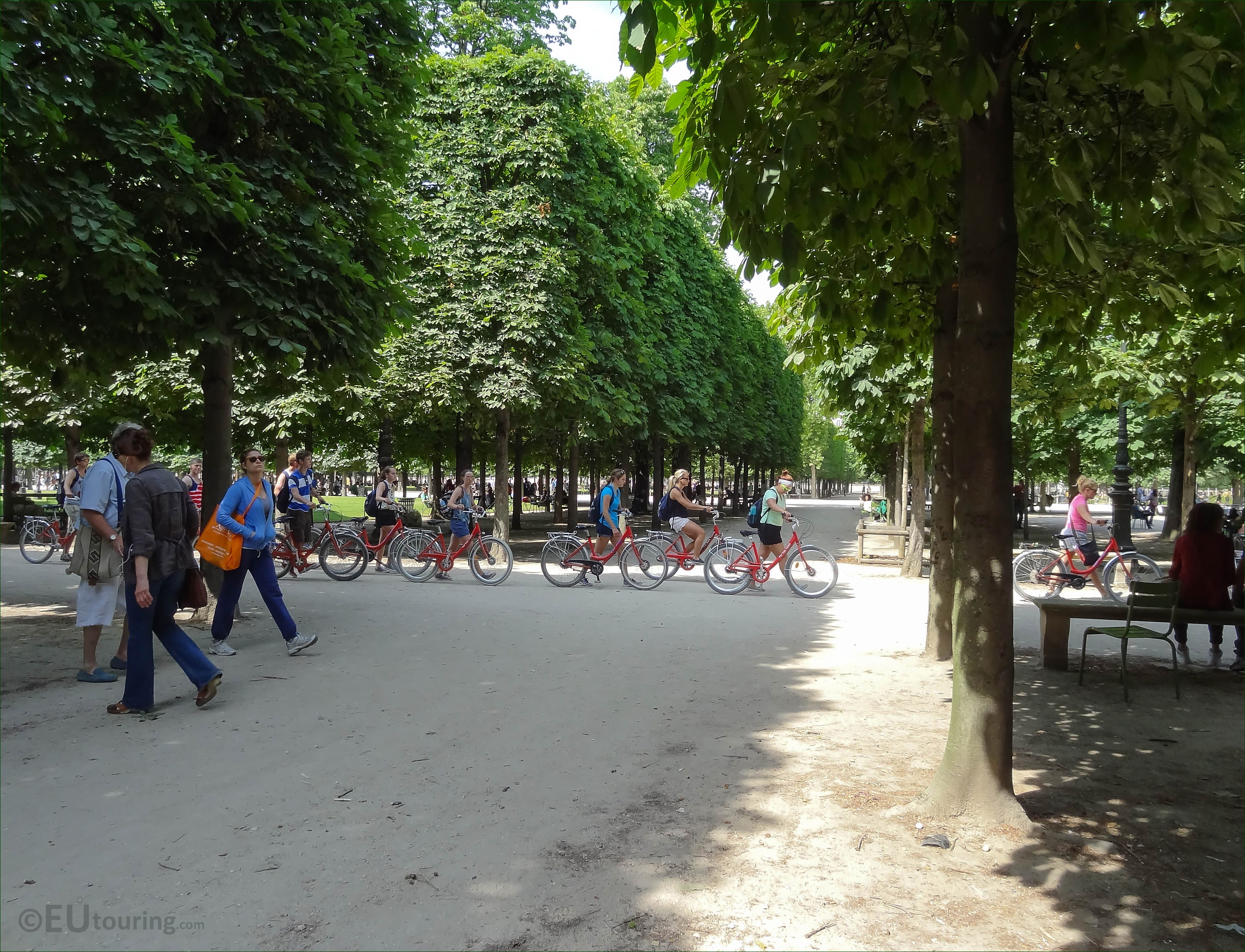 s of Fat Tire Bike Tours in Tuileries Gardens Paris Page 254