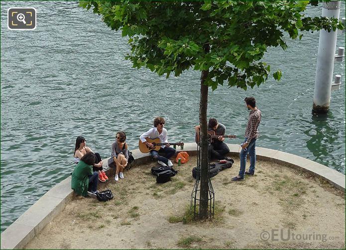 Making Music Along Quai Des Tuileries In Paris