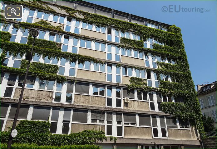 Creepers Growing Over Centre Cassin Facade Rue Cassini