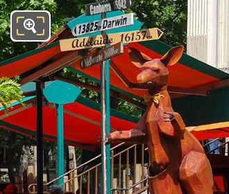 The Kangaroo At Cafe Oz At Place Denfert-Rochereau