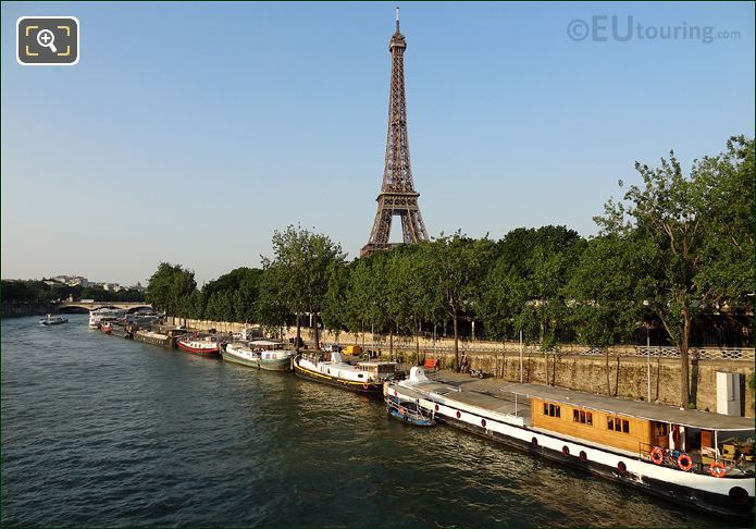 Houseboats On The River Seine