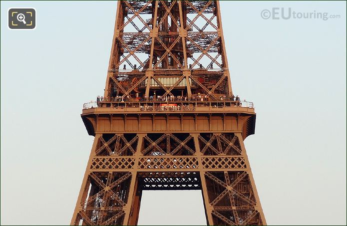 Tourists On The Eiffel Tower