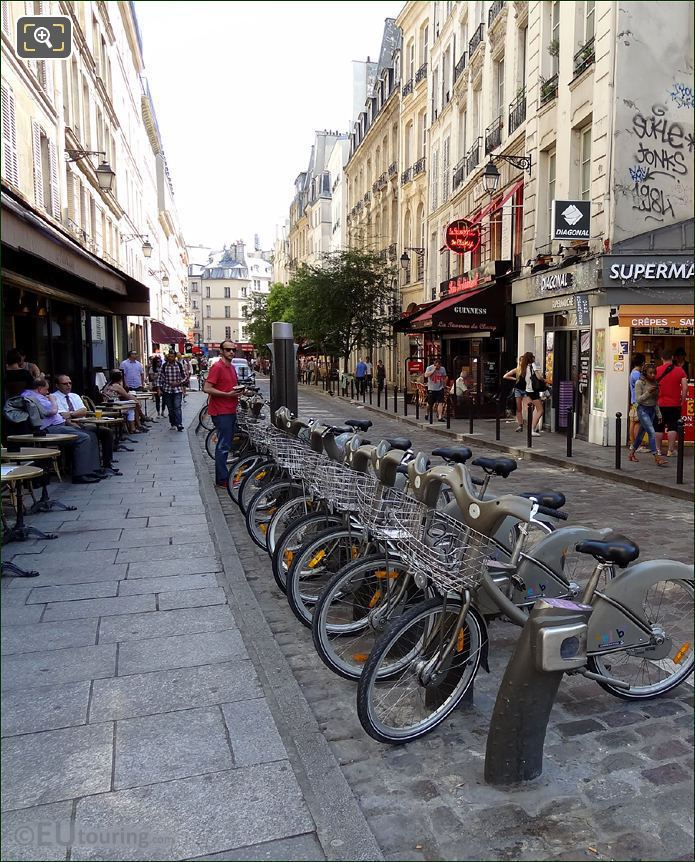 Paris Velib Bicycle Station