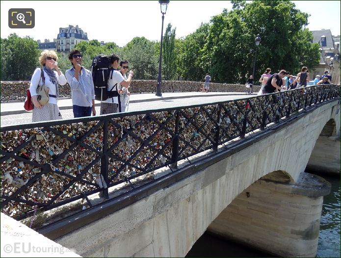 Tourist On The Pont de l'Archeveche
