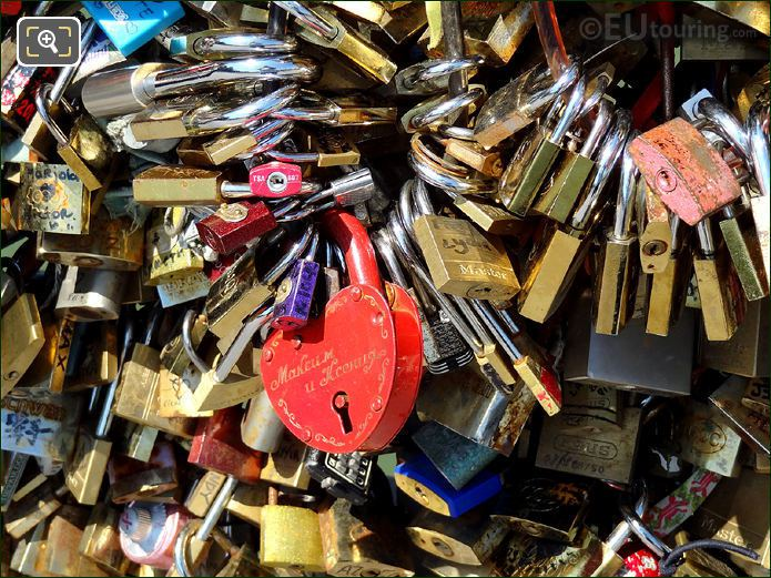 Paris Lovelocks On Lovers Bridge