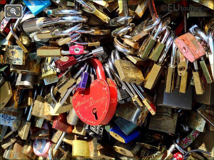 Paris Lovelocks On Lovers Bridge
