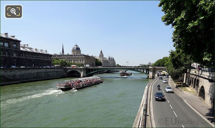 Traffic On And Along The River Seine