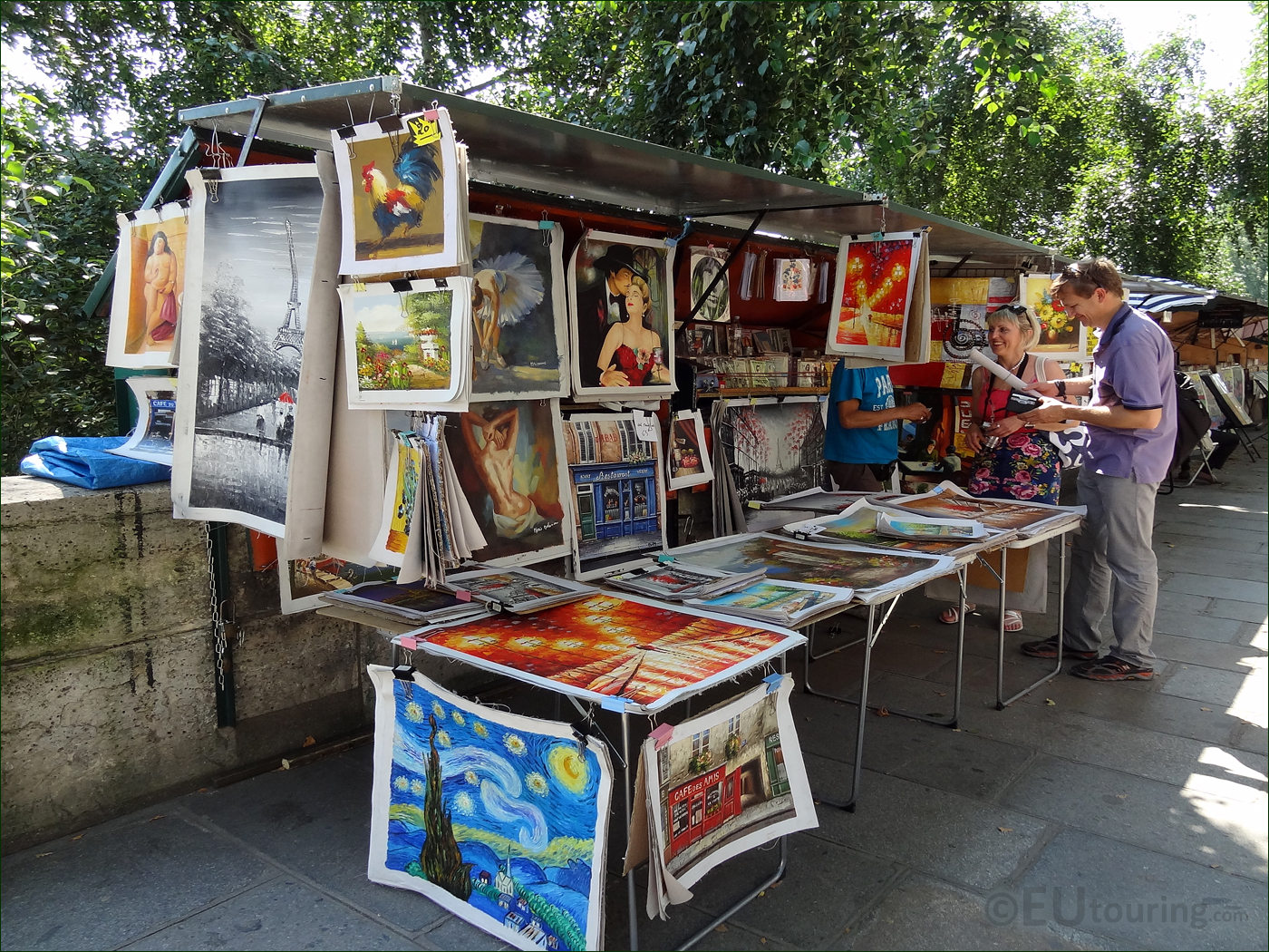 hd photo of market stall along the river seine in paris page 19. Black Bedroom Furniture Sets. Home Design Ideas