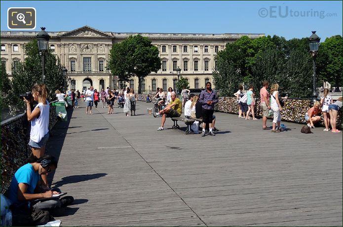 Tourists On The Bridge Of Love