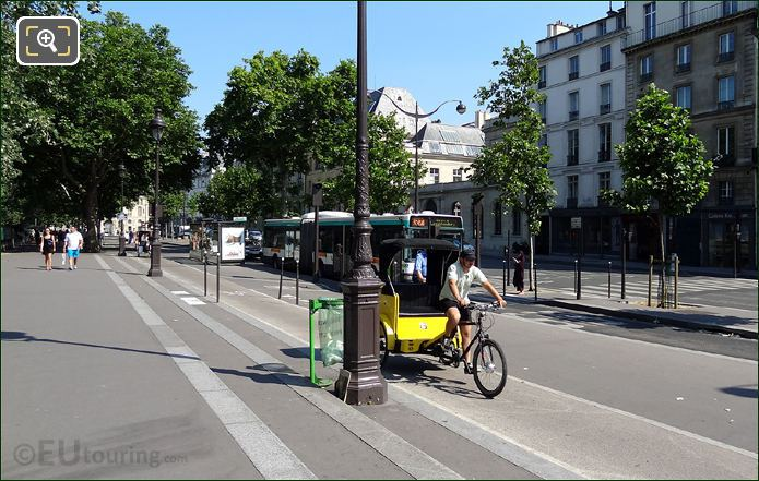 Rickshaw In Paris
