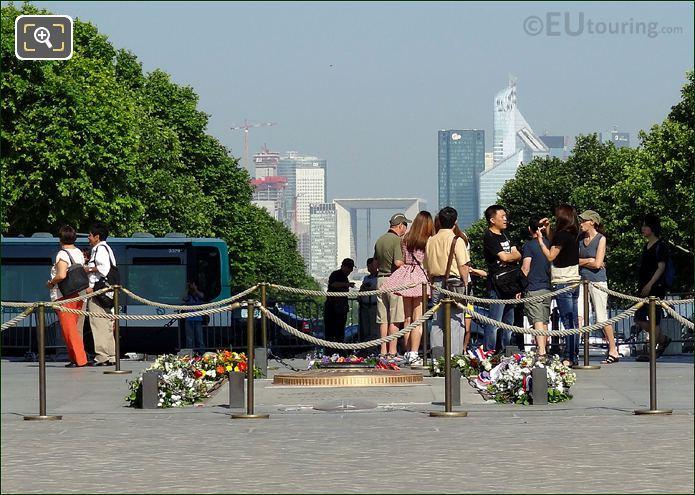 Tourists At Arc de Triomphe