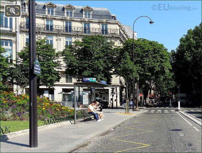 RATP Bus Stop 28 Champs Elysees
